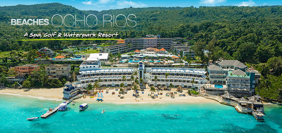 Una vista del fantastico Beaches resort di Ocho Rios